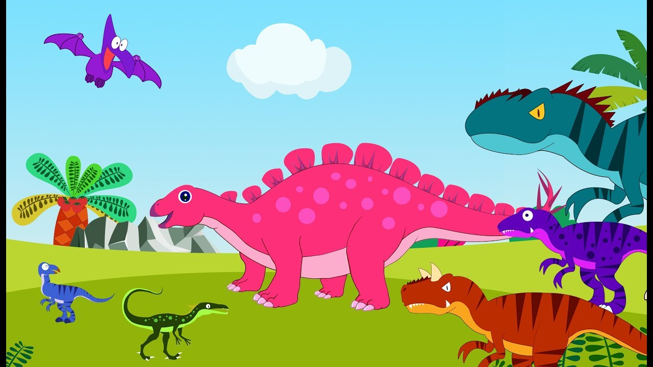 Dinosaur Cartoons for Kids   Kid Learn Dinosaurs Names And Dinosaurs Songs Collection