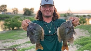 Fishing For Monster BLUEGILL!! {Catch Clean Cook} Blackened Bluegill