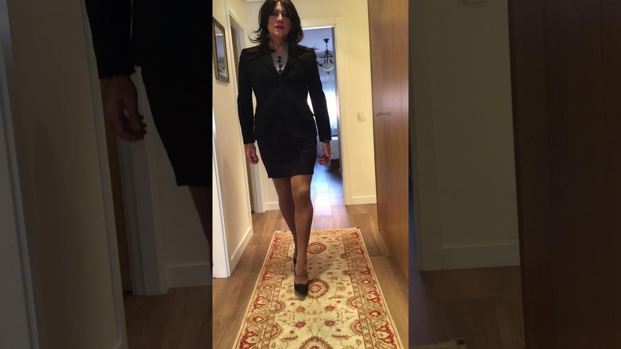13f9ae00bc9 Crossdresser Ines dressed in women s jacket suit and high heels 2 ...