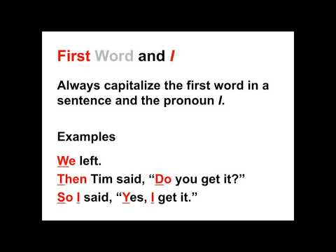 Capitalization Lesson | When To Capitalize In The English Language