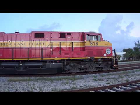 GE ES44C4 GEVOs switching the Port of Palm Beach!   5/5/18 - 7am - MP 295