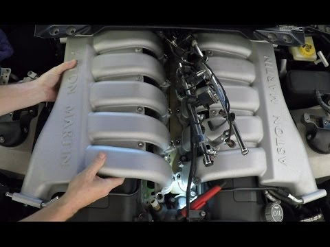 Installing the Intake Manifolds on an Aston Martin DB9