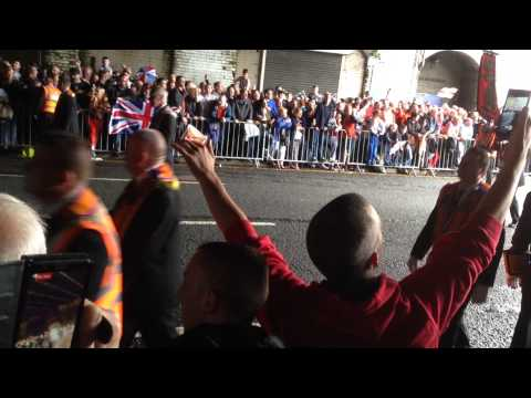 Glasgow orange walk 2015 build my gallows under the bridge