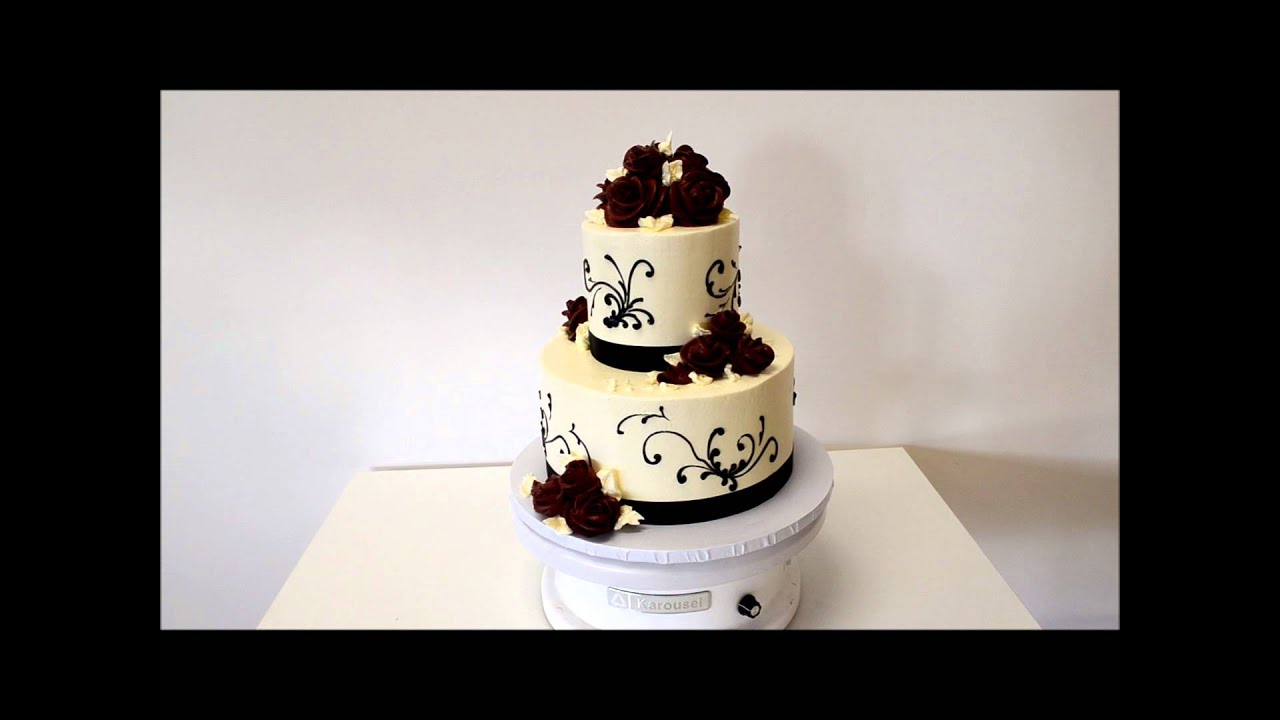 2 tier chocolate wedding cake recipe two tier wedding cake made with butter icing 10119
