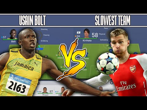 WHAT IF USAIN BOLT ⚡ PLAYED THE SLOWEST TEAM IN FIFA 19? EXPERIMENT!