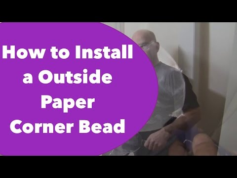 How to Install a Outside Paper Corner Bead