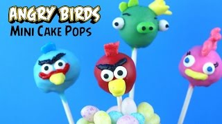 Video How to make NO BAKE Angry Birds Mini Cake Pops download MP3, 3GP, MP4, WEBM, AVI, FLV Juni 2018
