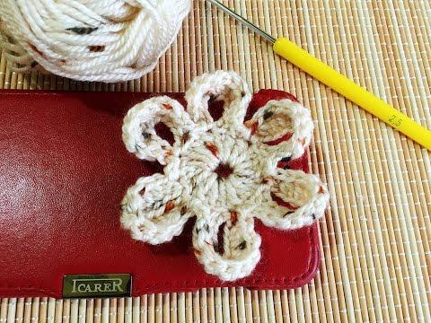 How to Crochet a Flower Step by Step / ถักดอกไม้โครเชต์ขั้นตอนแบบละเอียด
