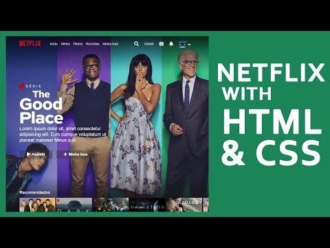 Netflix With HTML CSS