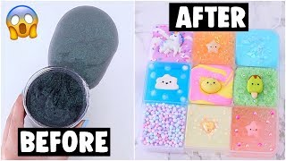 9 EXTREME SLIME PALETTE MAKEOVERS! fixing my 2 year old slime