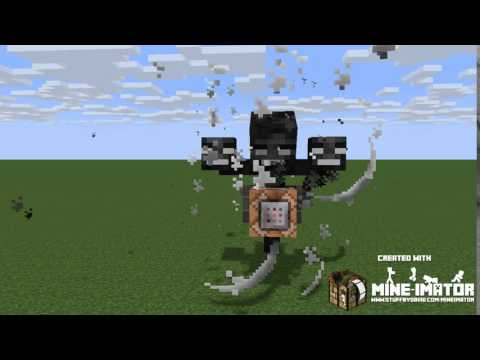 Mine Imator Test Wither Storm Beginning Youtube