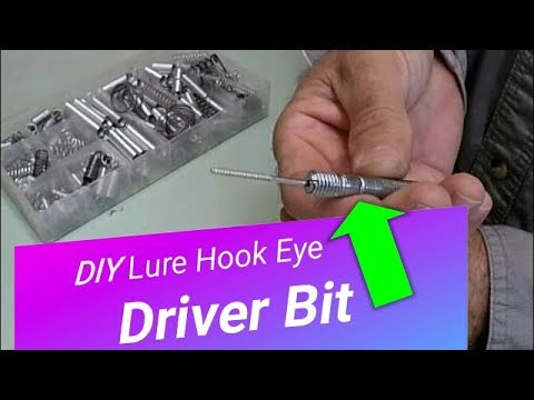 Lure Hook Eye Driver Bit DIY