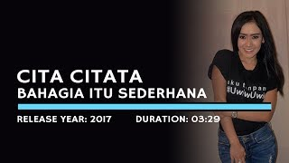 Cita Citata - Bahagia Itu Sederhana (Karaoke Version)