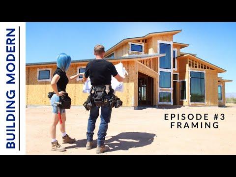 Framing A House \u0026 DREAM SHOP | Ep.3 Building Modern On A Budget