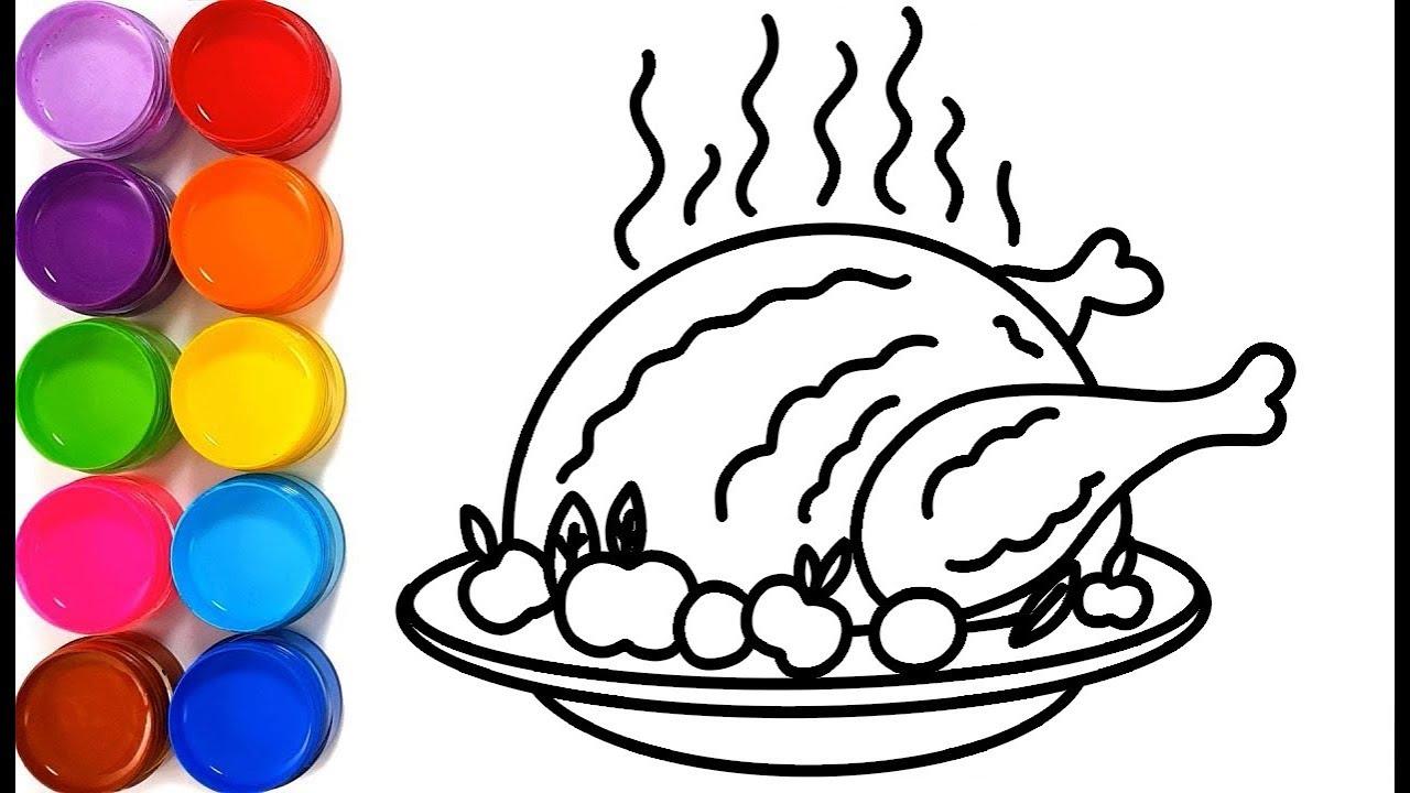 Cara Menggambar Dan Mewarnai Ayam Goreng Untuk Anak Halaman