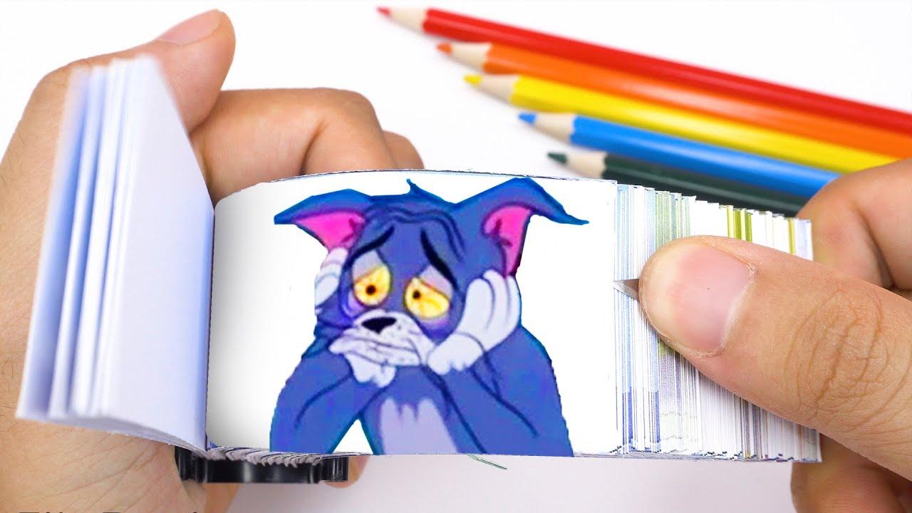 Tom & Jerry Flipbook #1   Sad Tom and Jerry   Flip Flipbook #6