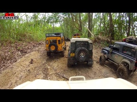 RC Offroad Adventures at Tampines Quarry - mudding at Devil's Backbone GoPro Hero 2 On Board Cam