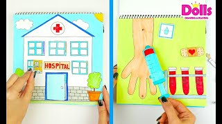 Download HOSPITAL QUIET BOOK IN ALBUM FOR KIDS PAPER DOLL PLAYING DOCTOR SET Mp3 and Videos