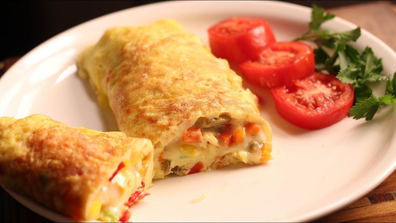 طريقة عمل رول البيض بالجبن لوجبة فطور شهية
