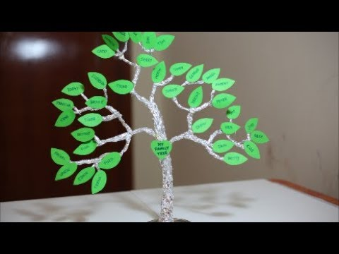 How To Make A Family Tree For Kids Aluminum Foil Craft Ideas