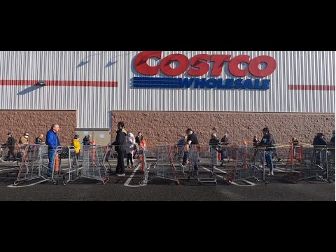 Covid 19 Costco And Home Depot Long Lines On Easter Long Weekend In Langley BC. #Vancouver. #GoPro
