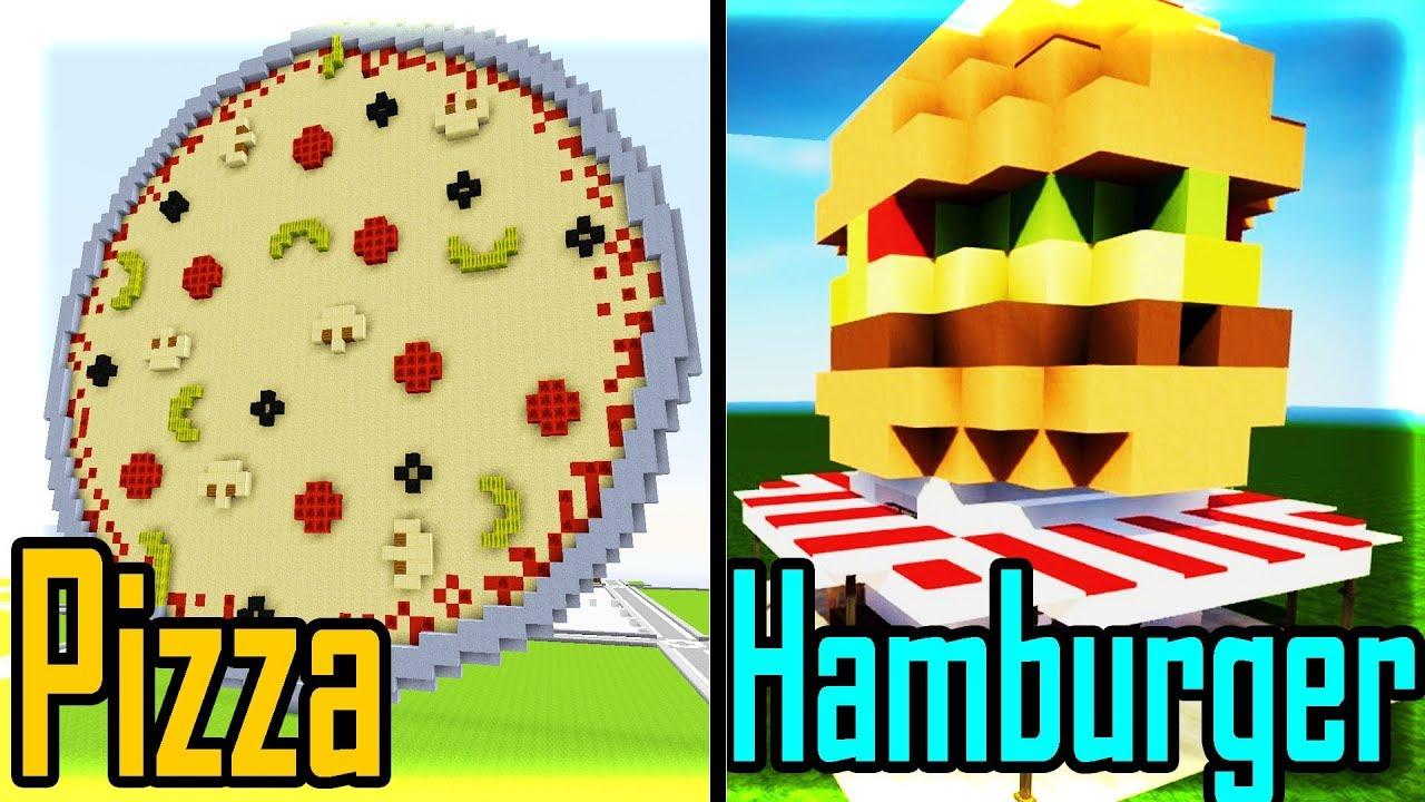 Thử Thách Xây Nhà PIZZA VÀ HAMBURGER Đẹp Nhất Trong Minecraft