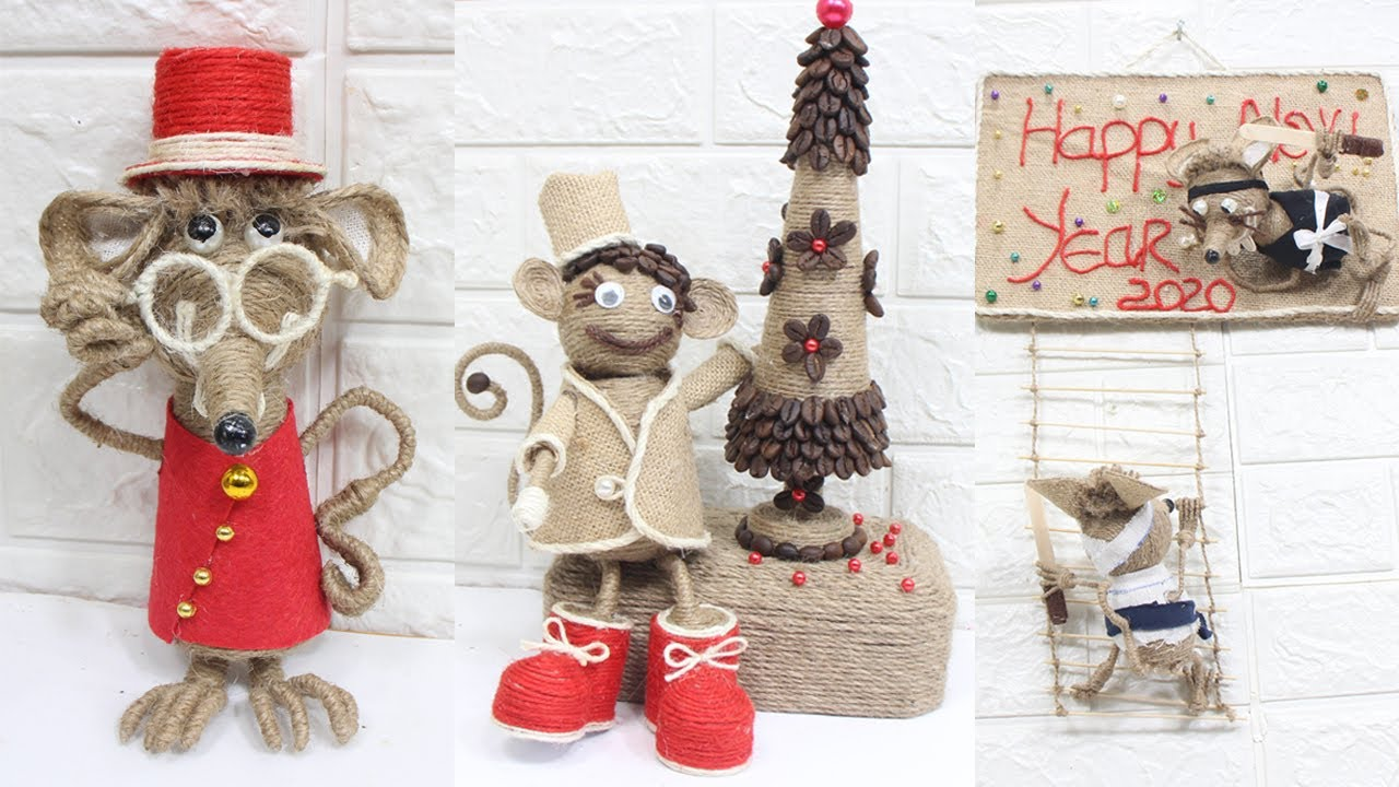 5 Jute Craft Mouse Ideas New Year Decoration Ideas 2020 2 Youtube