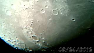 Moon North Pole View