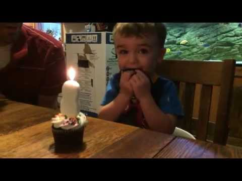 Our son was having trouble blowing out his birthday candle