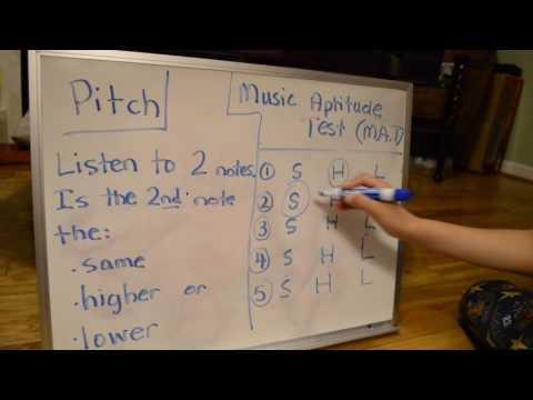 Music Aptitude Test - #1 Pitch