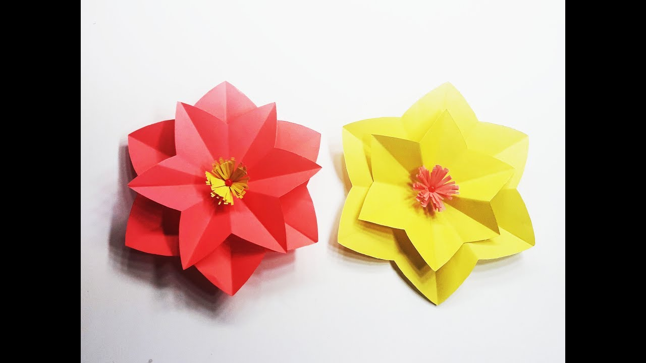 How To Make Beautiful Paper Flower Diy Easy Origami Paper Flowers