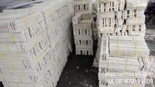 Batu susun sirih bahan batu paras putih palimanan batu alam lokal