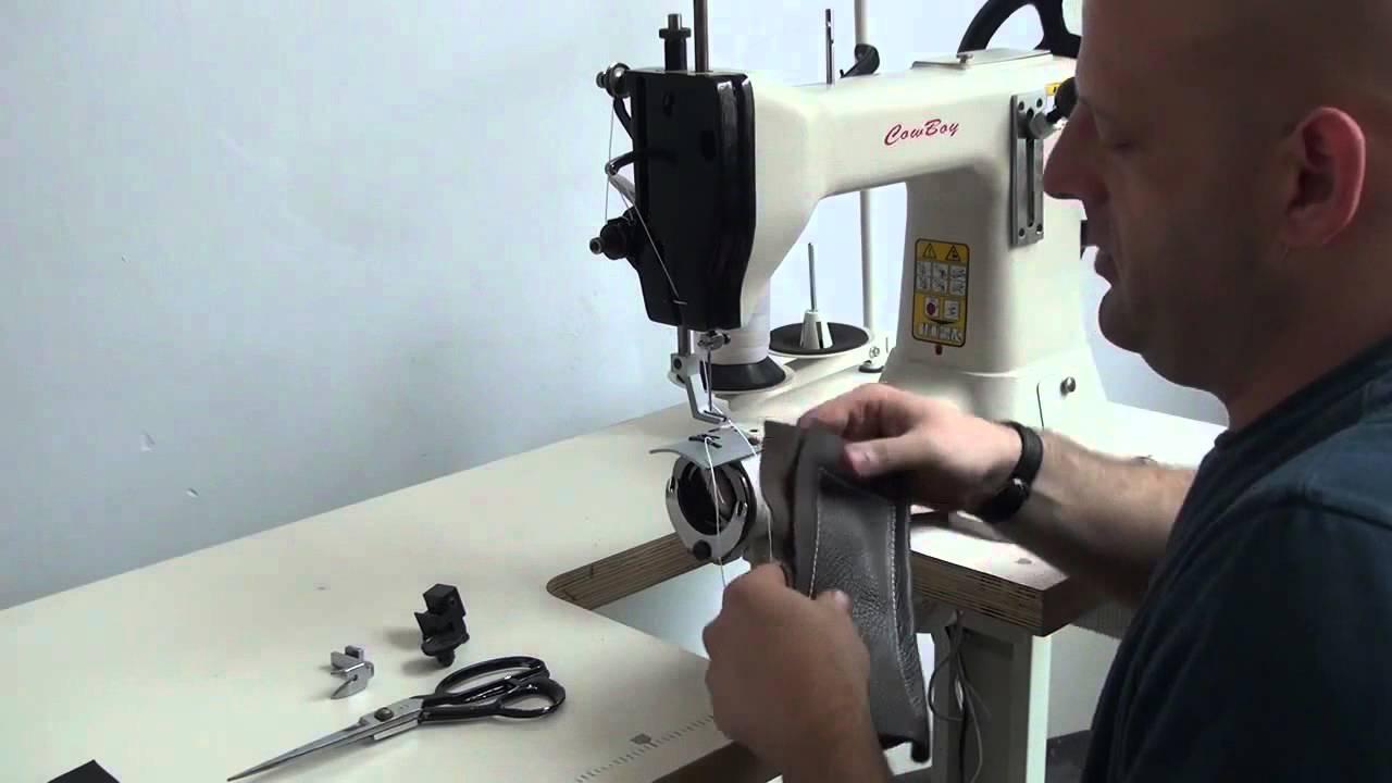 Máquina de coser cuero (simple y barata) - YouTube