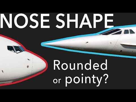 Aircraft Noses. Boeing vs Airbus and Rounded vs Pointy.