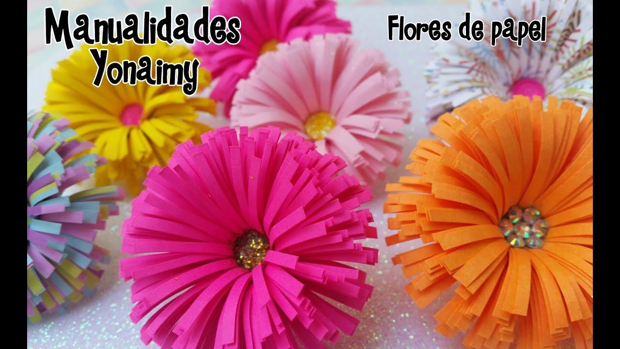 Flores de papel paper flowers youtube - Como hacer flores ...