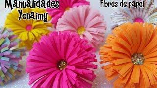 FLORES DE PAPEL  .- PAPER FLOWERS