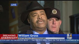 Boston Police Commissioner William Gross On Police Officer Shot
