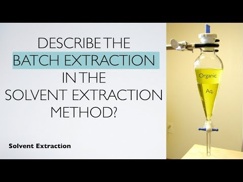 Describe The Batch Extraction In The Solvent Extraction Method Solvent Extracton Analytical Youtube