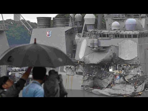 US Navy confirms missing sailors after destroyer collision found dead