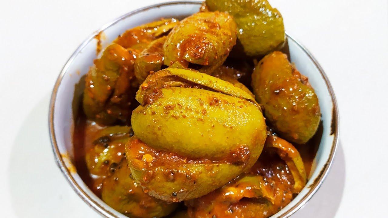 Stuffed raw mango pickle recipe Goan style| Mango Pickle recipe| Aam ka  aachar| Aam ka bharwa achar| - YouTube