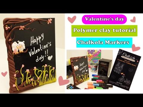 memo-board--chalkola-markers--diy--polymer-clay--valentine's-day