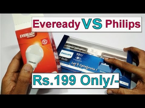 Eveready VS Philips II Comparison II Best Bulb For Home, Office & Youtubers