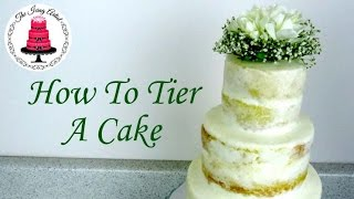 How To Make A Tiered Cake/naked Wedding Cake - How To With The Icing Artist