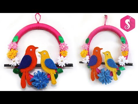 DIY BIRDS WALLPIECE from WASTE PIPE & CARDBOARD