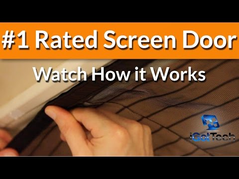Magnetic Screen Door - Magic Mesh -  Screen Doors - Retractable Door  - Instant Bug Mesh