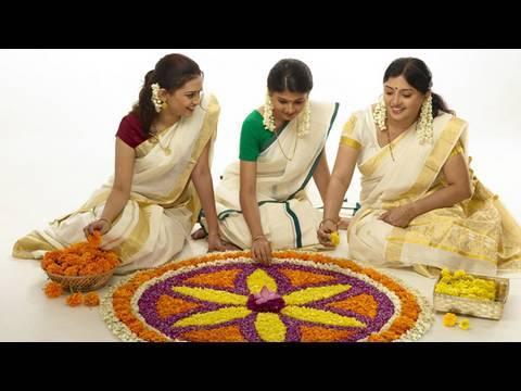 Pookalam � an Onam ritual