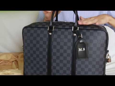 083efdf3d931 Louis Vuitton porte documents voyage GM damier graphite  unboxing/reveal/rewiew