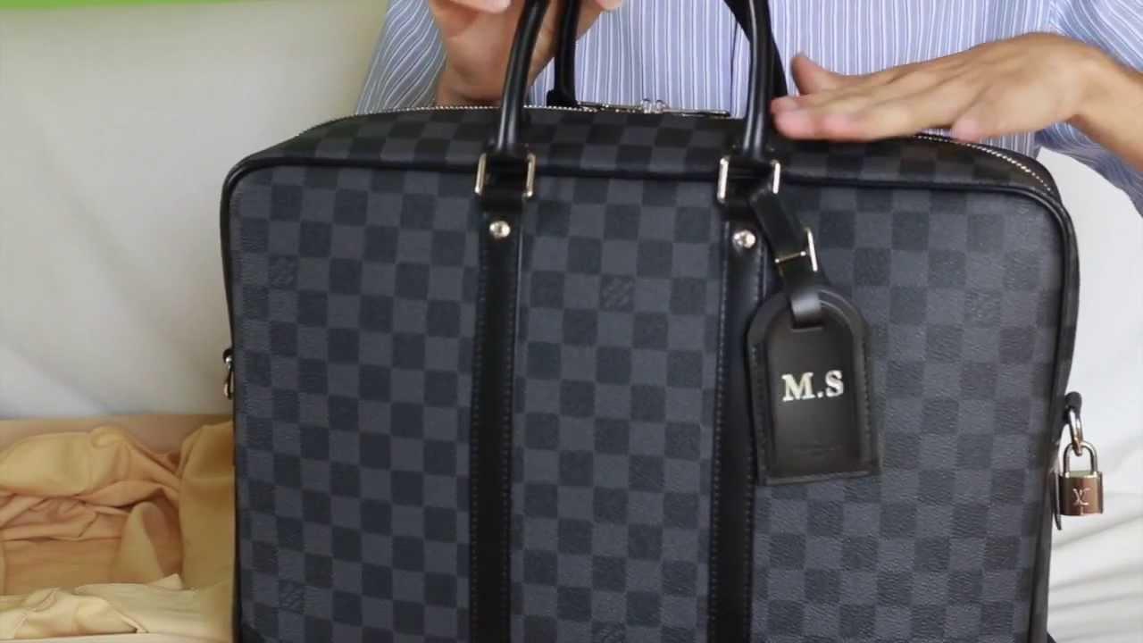 6cec6a489159 Louis Vuitton porte documents voyage GM damier graphite  unboxing reveal rewiew - YouTube