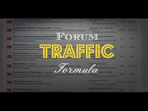 Forum Traffic Formula - Using Forums For Marketing On The Internet