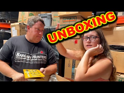 STORAGE WARS UNBOXING AT THE WAREHOUSE COMICS ACTION FIGURES ABANDONED AUCTION EBAY